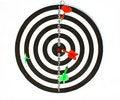 Free Dartboard With Darts Isolated On White Background Stock Image - 15761621