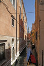Free Venice, Canal With Gondola Royalty Free Stock Photography - 15762727