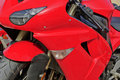 Free Red Motor Cycle Royalty Free Stock Photo - 15766855