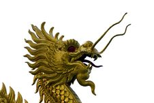 Free Isolated Of Golden Dragon Stock Photo - 15760030