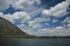Free Clouds Floating Above Jackson Lake Royalty Free Stock Image - 15760836