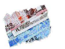 Euro Money Collage Stock Images