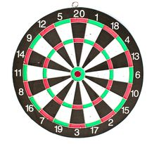 Free Dartboard Isolated On White Background Royalty Free Stock Images - 15761429