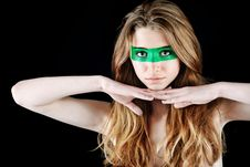 Free Green Mask Royalty Free Stock Photo - 15761555