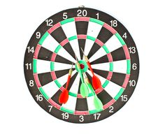 Free Dartboard With Darts Isolated On White Background Stock Photo - 15761680