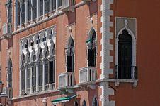 Venice, Palace With Facade Detail Stock Photos