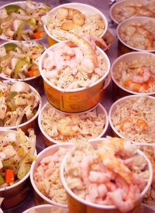 Free Seafood Plates. Stock Photos - 15764883