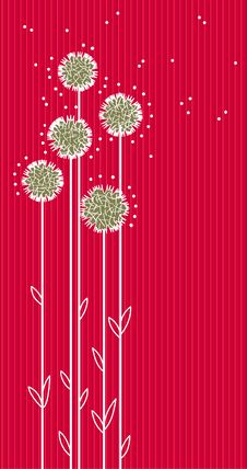 Red Floral Vector Background Stock Photography
