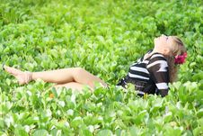 Free Woman In Grass Royalty Free Stock Image - 15766816