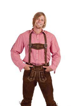 Free Man With Oktoberfest Leather Trousers (lederhose) Stock Photography - 15766952