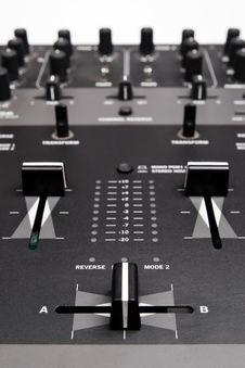 Free Professional Mixing Controller For Dj Royalty Free Stock Images - 15767099