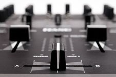 Free Professional Mixing Controller For Dj Royalty Free Stock Image - 15767106