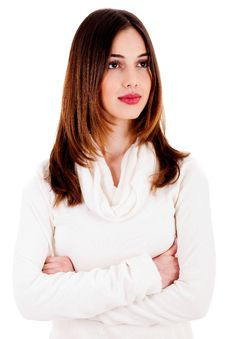 Closeup Of Beautiful Young Lady Stock Photo