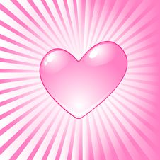 Free Pink Heart Stock Photography - 15767462