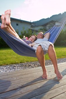 Young Loving Couple In The Summer Stock Photo