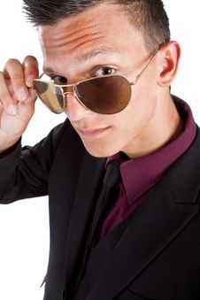Free Young Trendy Businessman With Sunglasses Royalty Free Stock Images - 15767999