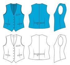 Free Woman Blue Waistcoat Stock Photos - 15768233