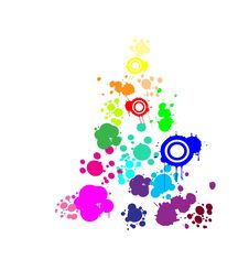 Abstract Rainbow Christmas Tree Stock Images