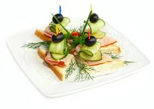 Free Canapes On The Plate Royalty Free Stock Image - 15768626