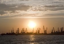 Free Sunset In The Port Royalty Free Stock Image - 15768726