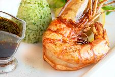 Free Grilled Shrimp Close-up Stock Photography - 15768882