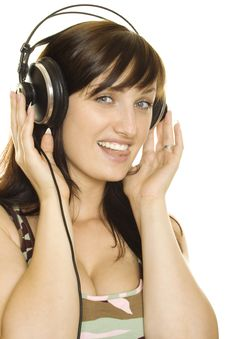 Free Woman Listening To Music And Singing Stock Photo - 15768890