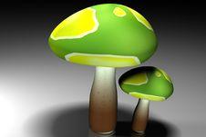 Free 3d Mushroom Royalty Free Stock Photography - 15769537