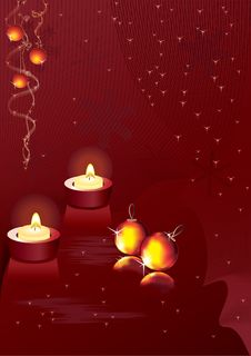Free Christmas  Candles Royalty Free Stock Image - 15769746