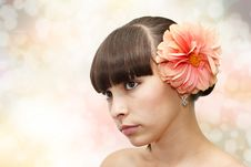 Free Front View Of Young Beautiful Woman S Face Stock Images - 15769984