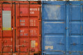 Free Container Blue And Red Royalty Free Stock Photos - 15774448