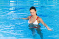 Free Girl Stands In The Pool Royalty Free Stock Images - 15774969