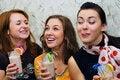 Free Three Beautiful Joyful Young Girls Stock Image - 15779241