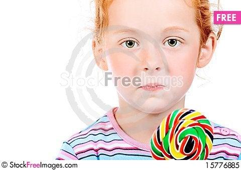 Big lollipop Stock Photo