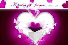 Free Heart Gift Box Stock Photo - 15770060
