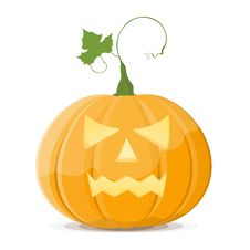 Free Halloween Pumpkin On White Background. EPS8 Stock Image - 15770061