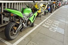 Free Motorbikes Parking Stock Photography - 15770452