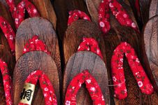 Free Japan Traditional Footwear Or Slipper Or Zori Stock Photo - 15770590