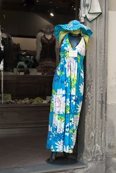 Free Dress In An Italian Boutique Stock Image - 15770781