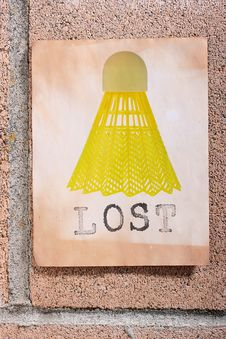 Free Lost Shuttlecock Stock Images - 15771674