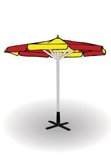 Free Vector Illustration I Beach Umbrella Royalty Free Stock Photo - 15772015