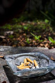 Free Ashtray With Butts Stock Image - 15772131
