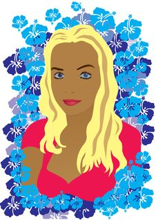 Free Vector Face Of A Girl Royalty Free Stock Photography - 15772207