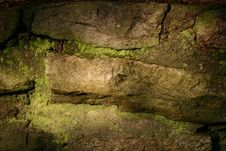 Moss And Stone Wall Stock Photos