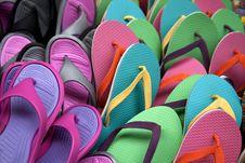 Free Flip Flops Background Royalty Free Stock Photo - 15774335