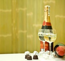 Free Champagne And Candy On The Table Stock Photo - 15774510
