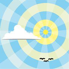 Free Cloud On Sunny Sky Stock Image - 15774911