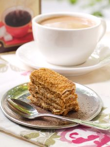 Coffee And Cake Stock Photos