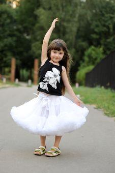 Adorable Toddler Girl With Very Long Dark Hair Stock Photo