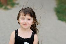 Free Adorable Toddler Girl With Very Long Dark Hair Stock Photos - 15775483