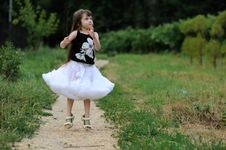 Free Adorable Toddler Girl With Very Long Dark Hair Stock Images - 15775494